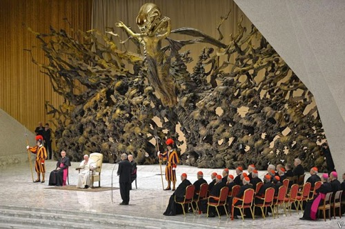 Pope Paul VI Hall Alien Statue